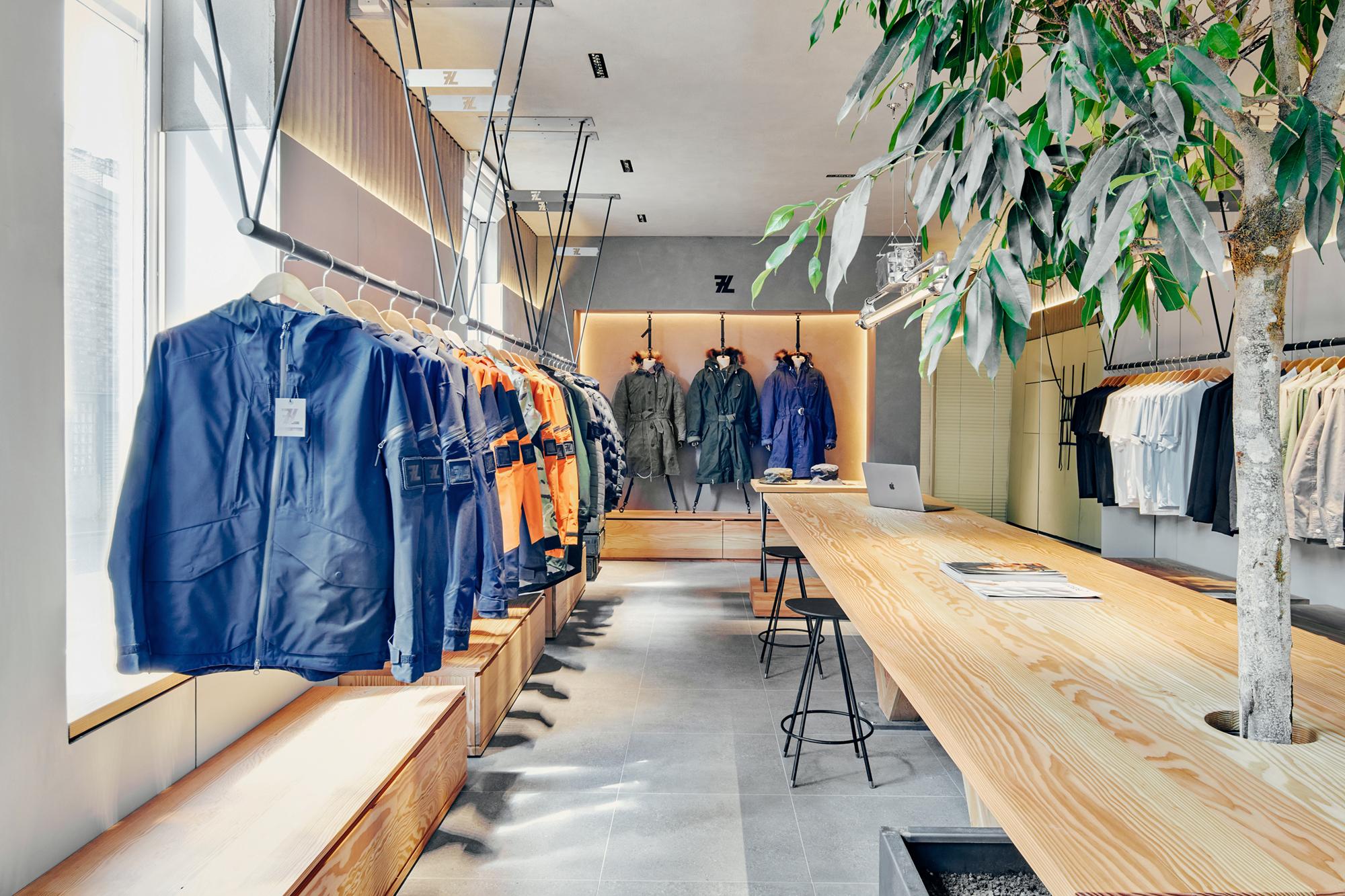 retail store design, interior design, seven layer