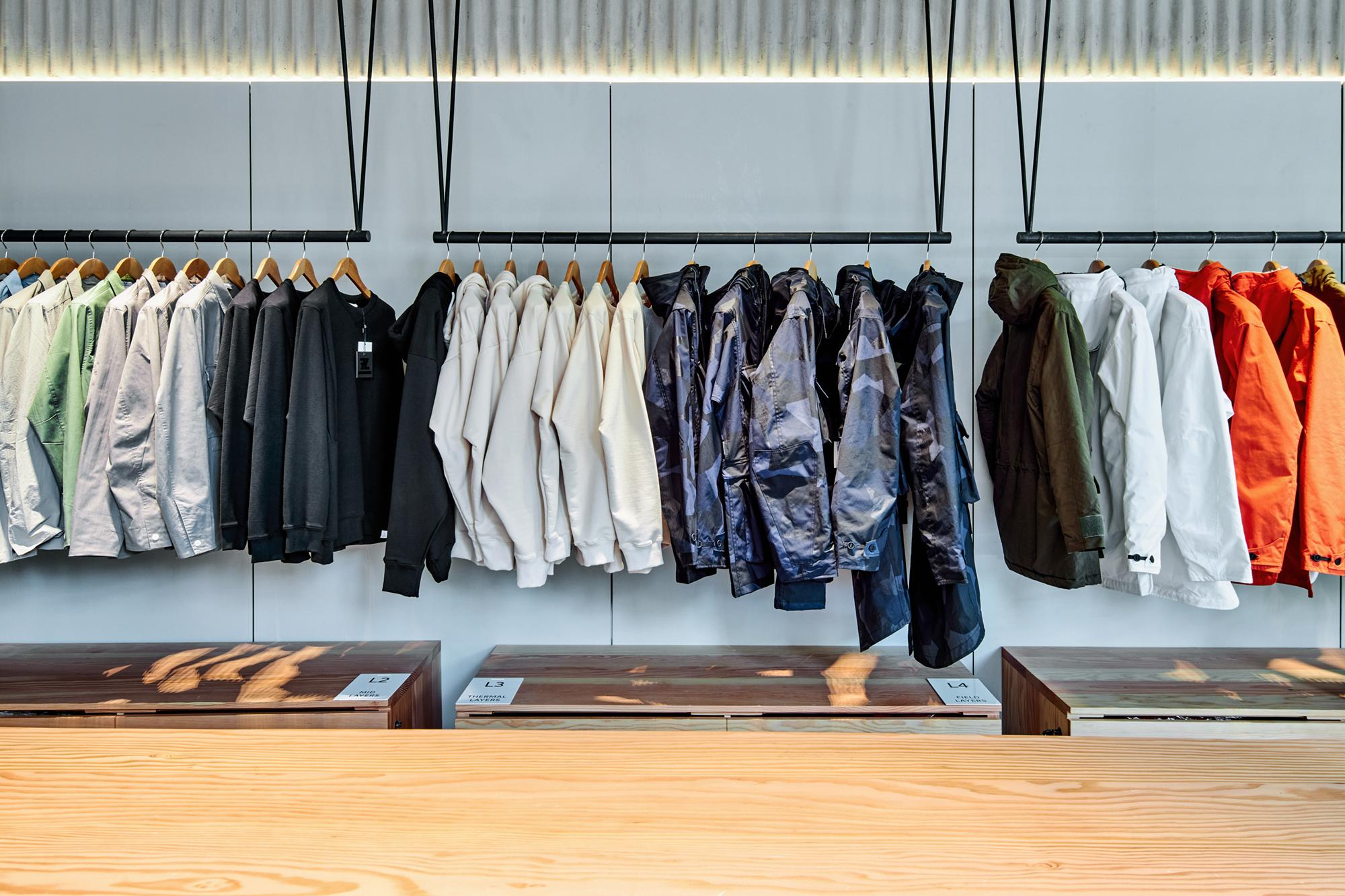 hanging rail, fashion, display