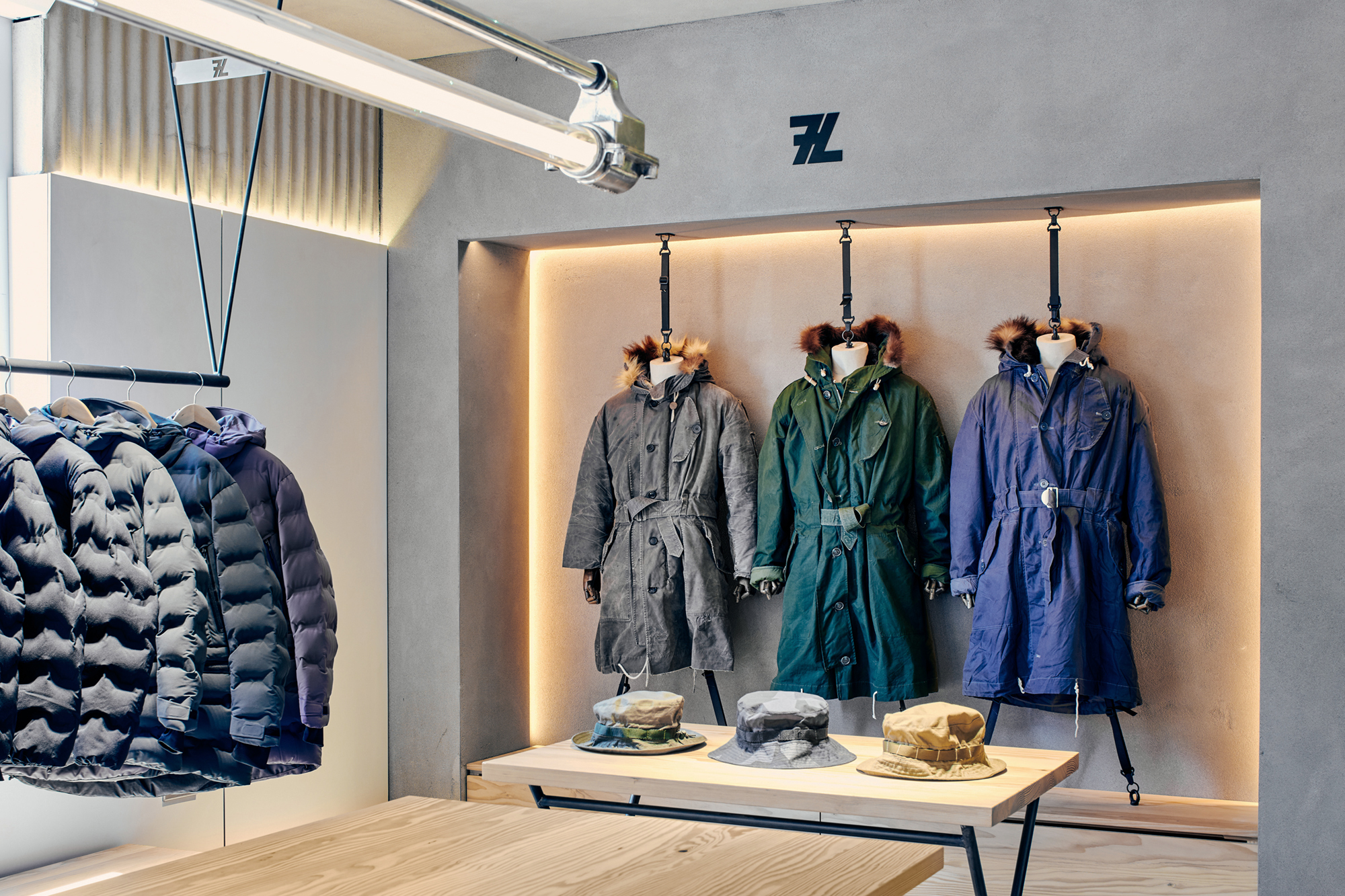 military clothing, display design