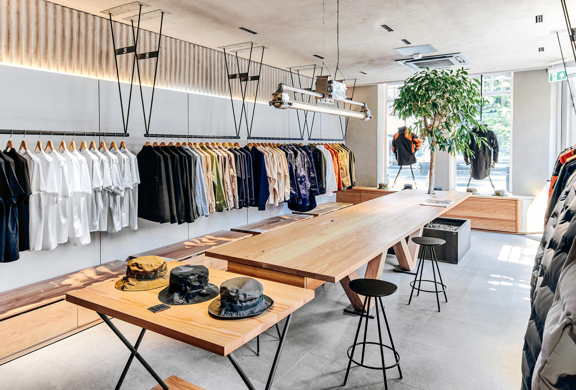 seven layer, interior design, store design