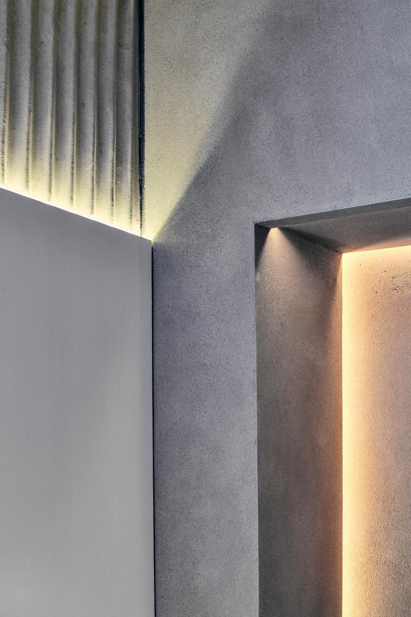 concrete texture, interior design, 7L