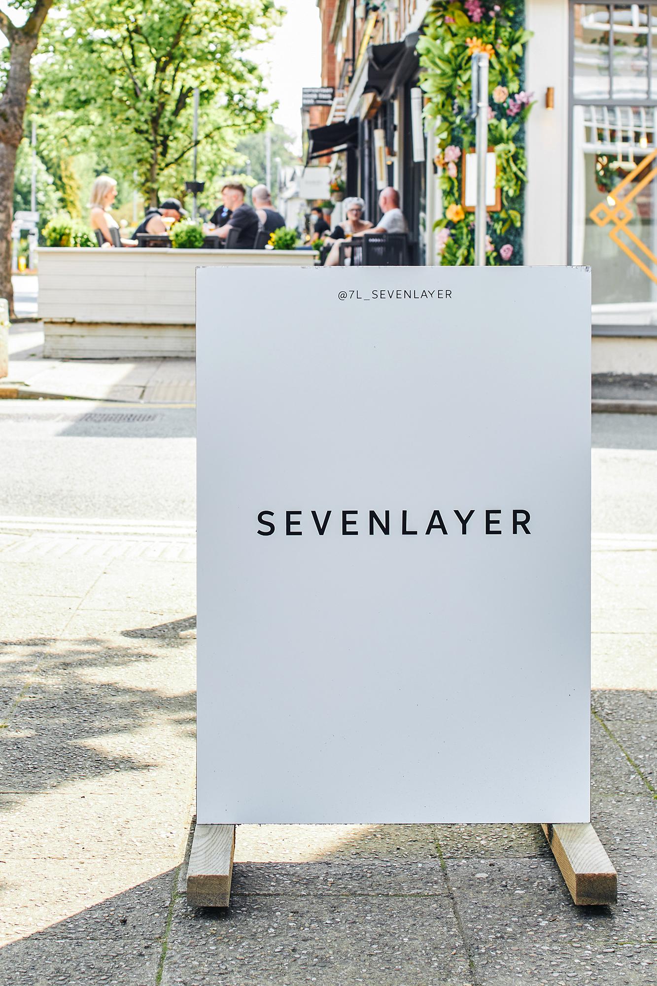Seven Layer, Signage, design, A-board